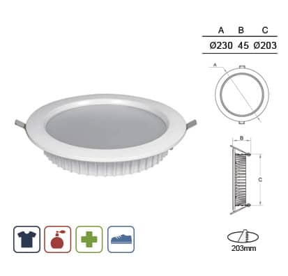 Luminaria Downlight Puck Comercio