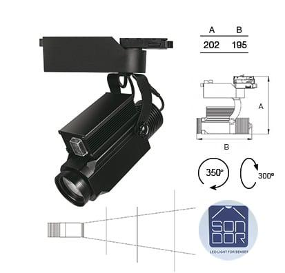 Proyector Gobo Tracklight Sondor